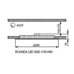 Светильник типа downlight LED